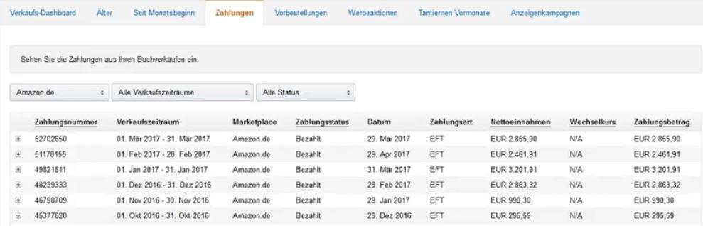 Einnahmen Amazon KDP durch ebook publishing Masterkurs