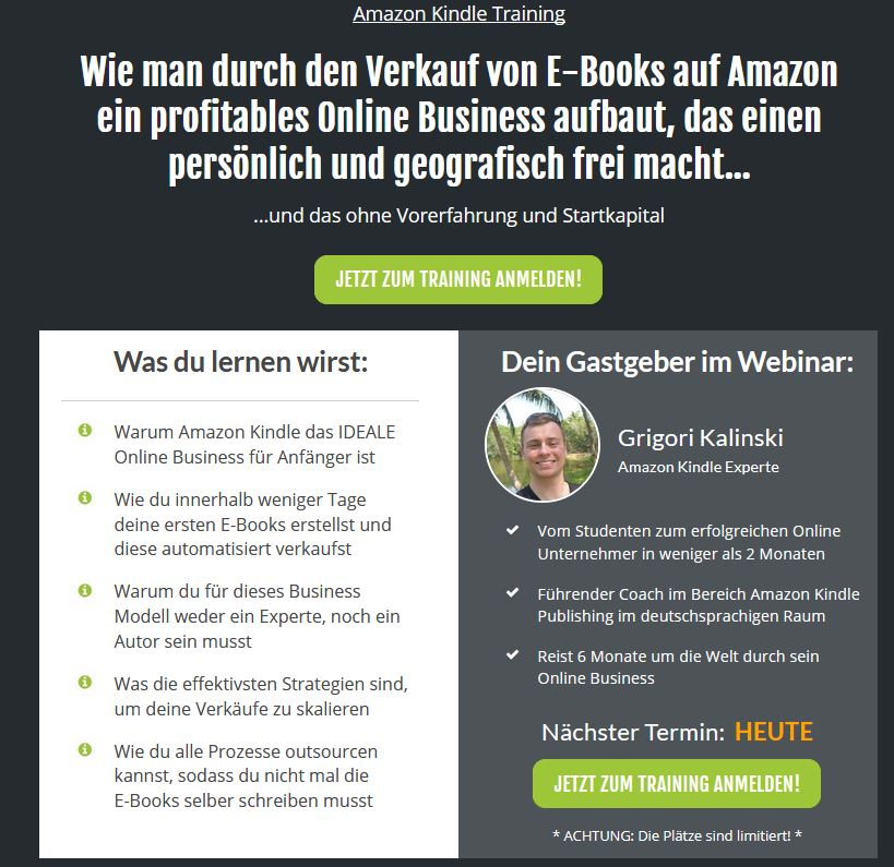Zugang zum kostenlosen Webinar Grigori Kalinski